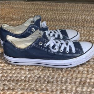 dark blue converse lows